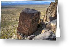 Three Rivers Petroglyphs 3 Greeting Card