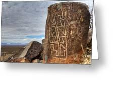 Three Rivers Petroglyphs 4 Greeting Card