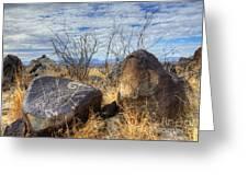 Three Rivers Petroglyphs 7 Greeting Card