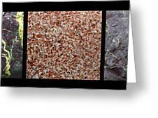 Three Rock Patterns Greeting Card