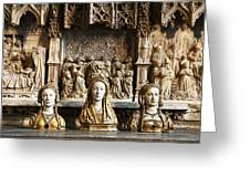 Three Saints In Marble Greeting Card