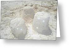 Three Sand Castles Greeting Card