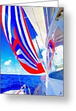 Three Sheets Sailing Greeting Card