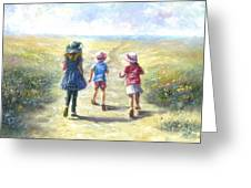 Three Sisters Beach Path Greeting Card