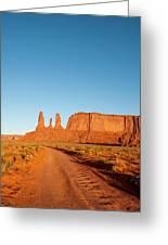 Three Sisters Mitchell Mesa, Monument Greeting Card