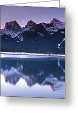 Three Sisters With Crescent Moon Greeting Card
