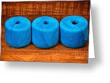 Three Skeins Of Knitting Yarn Greeting Card