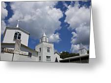 Three Steeples On Historic Florida Church Greeting Card