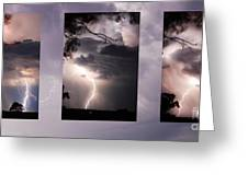 Three Strikes Lightning Greeting Card