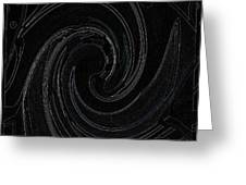 Three Swirls On Black Greeting Card