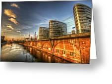 Three Towers Berlin Greeting Card