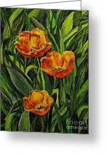 Three Tulips Greeting Card