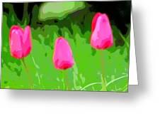 Three Tulips - Painting Like Greeting Card