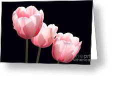 Three Two Lips Greeting Card