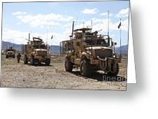Three U.s. Army Mine Resistant Ambush Greeting Card