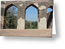 Three Views Greeting Card