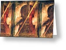 Three Violins Greeting Card by Bob Orsillo