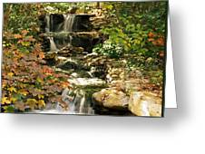 Three Water Falls Greeting Card