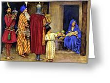 Three Wise Men Bearing Gifts Greeting Card