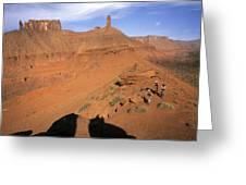Three Women Mountain Biking In Moab Greeting Card