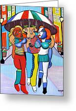 Threes A Crowd By Anthony Falbo                                          Greeting Card by Anthony Falbo