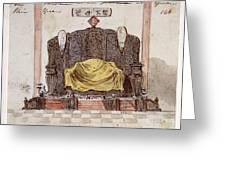 Throne Greeting Card