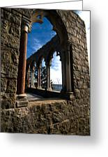 Through Castle Walls Greeting Card