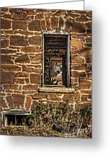 Through Doors And Windows - Abandoned House Greeting Card