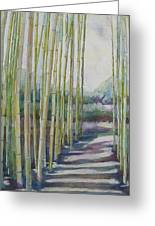 Through The Bamboo Grove Greeting Card