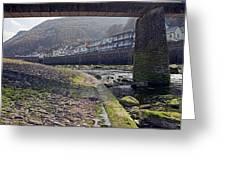Through The Bridge Greeting Card