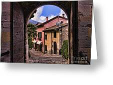 Through The Castle Door Greeting Card