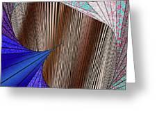 Through The Curtain Greeting Card