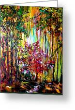 Through The Forest  Greeting Card by Michelle Dommer