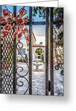 Through The Gate Greeting Card