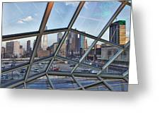 Through The Glass At Philly Greeting Card