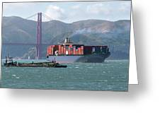 Through The Golden Gate Greeting Card