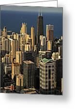 Through The Haze Chicago Shines Greeting Card