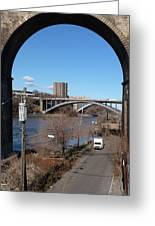 Through The Highbridge Greeting Card by Steve Breslow