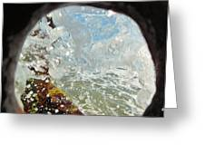 Through The Hole Jetty Splash 3/01 Greeting Card