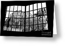 Through The Monastery Window Greeting Card