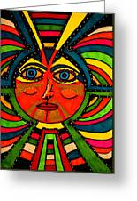 Through The Prism Of The Sun Greeting Card