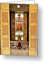 Through The Temple Doors India Greeting Card