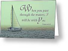 Through The Waters Greeting Card