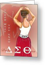 Throw What You Know Series - Delta Sigma Theta Greeting Card