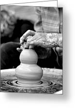 Throwing On The Pottery Wheel Greeting Card