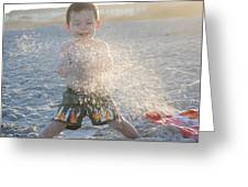 Throwing Sand Greeting Card