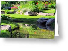 Thula Garden's Water Reflections Greeting Card