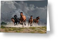Thunder On The Plains Greeting Card