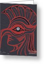 Thunderbird Mask Greeting Card
