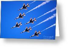 Thunderbirds Jet Team Flying Fast Greeting Card